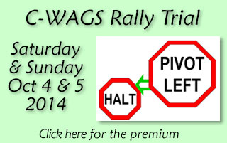 C-WAGS Rally Trial Saturday and Sunday,